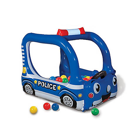 Banzai Police Patrol Time Play Center Inflatable Ball Pit -Includes 20 Balls, 55636FR