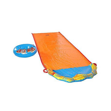 Banzai Spin Out Water Slide - Includes Inflatable Spin Disk Body Board, 11647FR