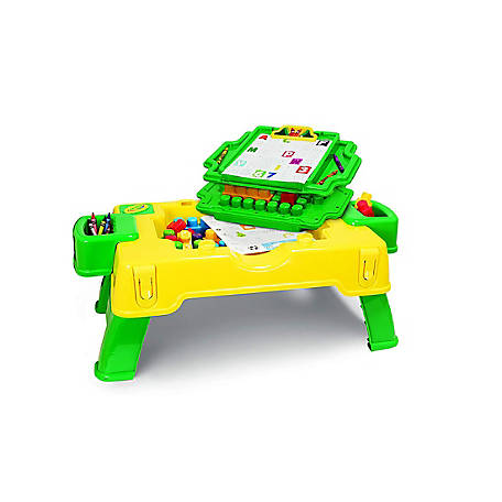 Crayola Kids@Work 2-in-1 Build & Draw Activity Table - 30 Pieces, 99063