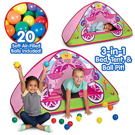 Little Tikess Enchanted Princess Carriage 3-in-1 Bed, Tent, & Ball Pit, 9336