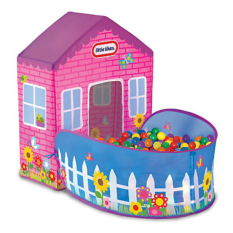 Little Tikes Playhouse Tent - 20 Balls Included - Indoor/Outdoor, 9115