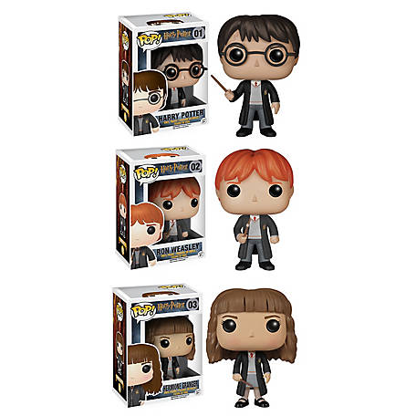 Funko Funko Harry Potter POP! Movie Vinyl Collectors Set: Harry Potter, Ron Weasley & Hermione, G847944000686