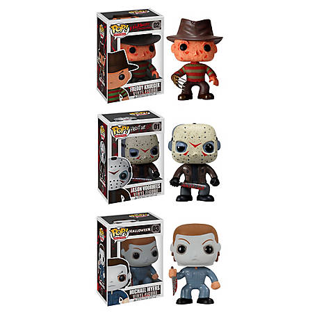 Funko Horror Classics POP! Movies Vinyl Collectors Set: Freddy Krueger, Jason Voorhees, Michael Myers, G847944000938