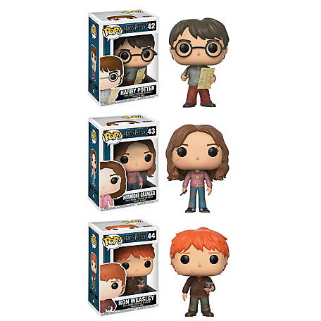 Funko POP! Movies Harry Potter Series 4 Collector Set; Harry Potter, Marauders Map, Hermione, Time Turner, Ron Weasley, Scabbers