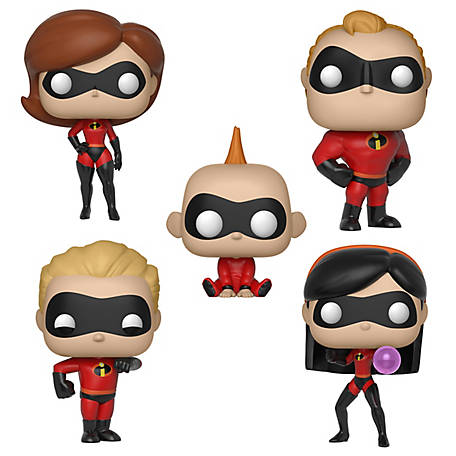 Funko POP! Disney Incredibles Series 2 Collectors Set; Elasticgirl, Mr. Incredible, Dash, Jack-Jack, & Violet, G847944002383