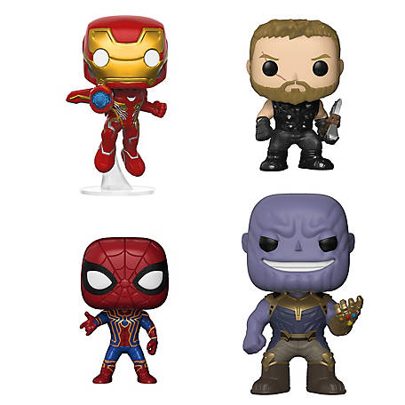 Funko POP! Marvel Avengers Infinity War Collectors Set 1 - Iron Man, Thor, Iron Spider & Thanos, G847944002413