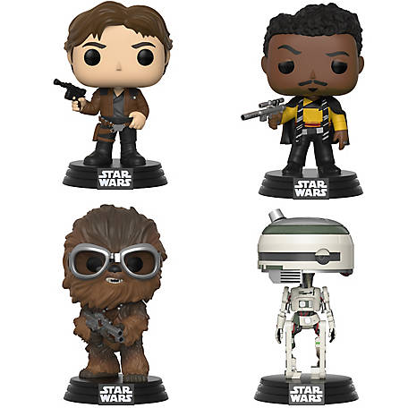 Funko POP! Star Wars Solo, A Star Wars Story Collectors Set - Han Solo, Chewie, Lando Main Outfit & L3-37, G847944002468