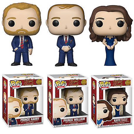Funko POP! Royals: Royal Family Series 1 Collectors Set -Prince Harry & William, Duchess Kate, G847944002482