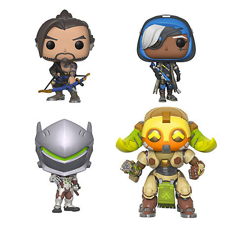 Funko POP! Games Overwatch Series 4 Collectors Set - Hanzo, Genji, Ana, 6 in. Orisa, G847944002710