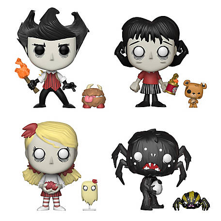 Funko POP! Don't Starve Collectors Set (POP & Buddy)- Wilson & Chester, Willow & Bernie, Wendy & Abigail, Webber & Spider