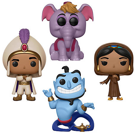 Funko POP! Disney Aladdin Collectors Set - Prince Ali, Jasmine in Disguise , Elephant Abu, Genie with Lamp, G847944003113