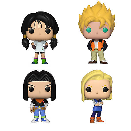 Funko POP! Animation Dragon Ball Z Series 5 Collectors Set - Videl, Goku(Casual), Android 17, Android 18, G847944003175