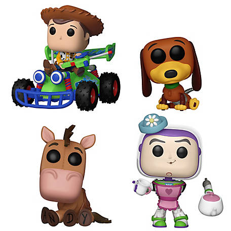 Funko POP! Movies Toy Story Collectors Set - Woody with RC (POP! Ride), Slinky Dog, Mrs. Nesbit, Bullseye, G847944003212