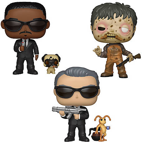 Funko POP! Movies Men in Black Collectors Set - Agent K & Needle, Agent J & Frank, Edgar, G847944003304