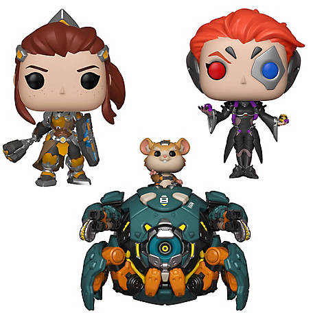 Funko POP! Games Overwatch Series 5 Collectors Set - 6 in. Wrecking Ball, Brigitte, Moira, G847944003373