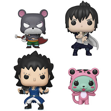 Funko POP! Animation Fairy Tail Series 3 Collectors Set - Panther Lily, Zeref, Gajeel, Frosch, G847944003427