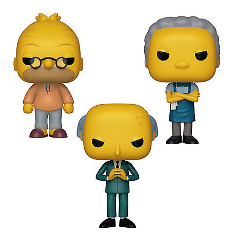 Funko POP! Animation Simpsons Collectors Set 2 - Grandpa Abe Simpson, Moe Szyslak, Mr. Burns, G847944003465
