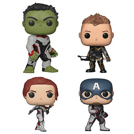 Funko POP! Marvel Avengers Endgame Collectors Set 1 - Hulk, Hawkeye, Captain America, Black Widow, G847944003656