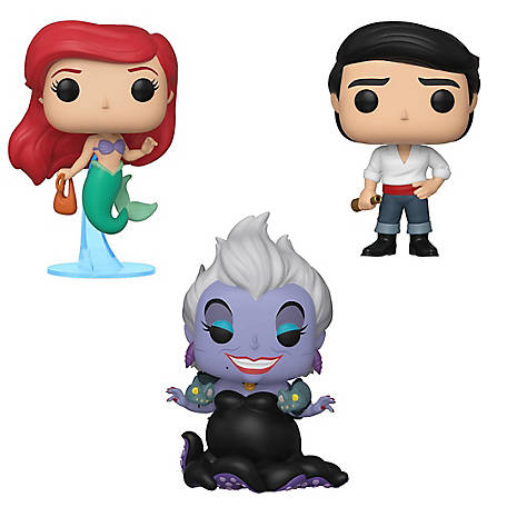 Funko POP! Disney Little Mermaid Collectors Set - Ariel with bag, Ursula with Eels, Prince Eric, G847944003311