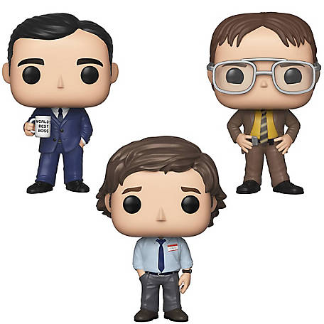 Funko POP! TV The Office Collectors Set 1 - Michael Scott, Dwight Schrutte, Jim Halpert, G847944003526