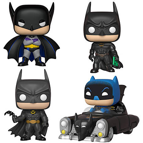 Funko POP! Heroes Batman 80th Anniversary Collectors Set (Batman -Original, 1989, 1995 & 1950 Batmobile), G847944003649