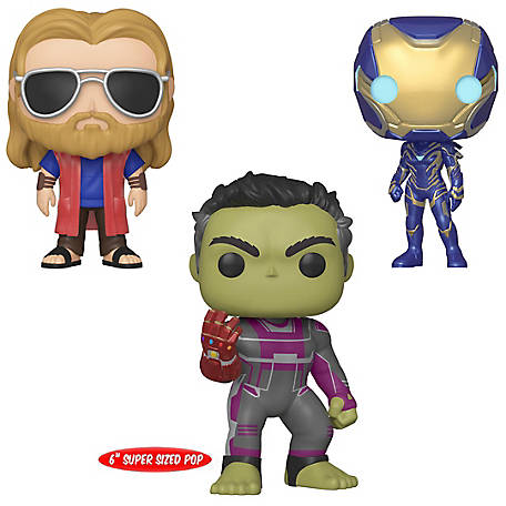 Funko POP! Marvel Avengers Endgame Collectors Set 3 - Casual Thor, Rescue, 6 in. Hulk with Gauntlet, G847944003748