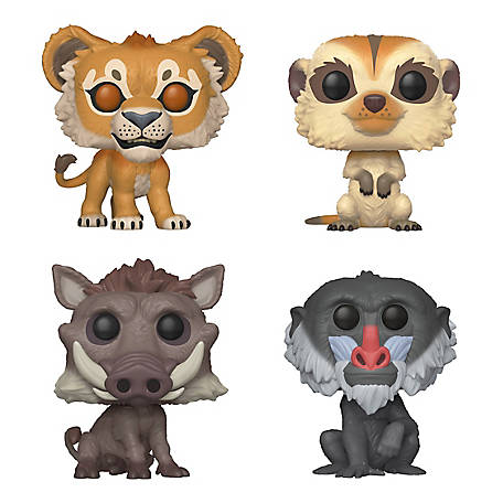 Funko POP! Disney Lion King Live Collectors Set - Simba, Timon, Pumbaa, Rafiki, G847944003755