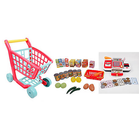 Gi-Go Toy Deluxe Shopping Cart and Cash Register Set, 63713
