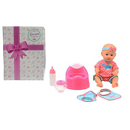 Dream Collection 14 in. Drink and Wet Baby Doll with Training Potty, 17220