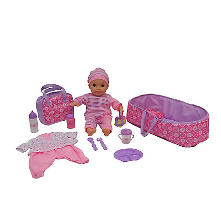 Dream Collection 16 in. Deluxe Lovely Baby Doll 10+ Piece Set, 24263