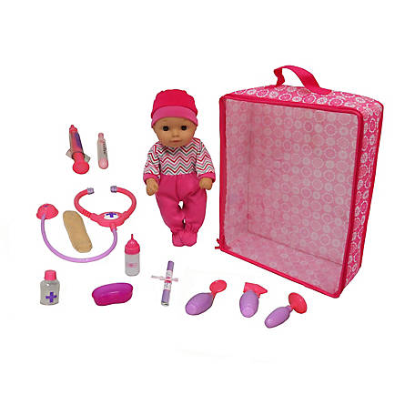 Dream Collection 14 in. Get Well Baby Doll 10+ Piece Set, 28204