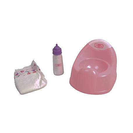 Dream Collection Baby Doll Diaper & Potty Set, 63109