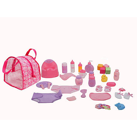 Dream Collection 30 Piece Baby Doll Care Accessories Set, 69928