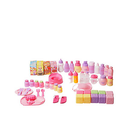 Dream Collection 8.7 Dream Collection 70 pc. Baby Doll Accessory Bag, 62829B