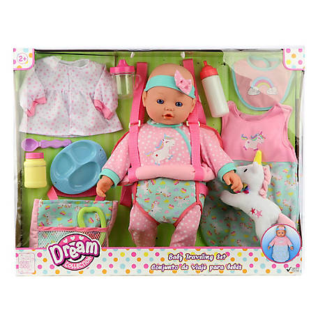 Dream Collection 16 in. Baby Doll Travelling Set - Pink, 17235B