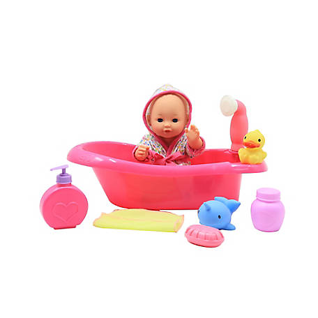 Dream Collection 12 in. Baby Bath Time Play Set, 17149