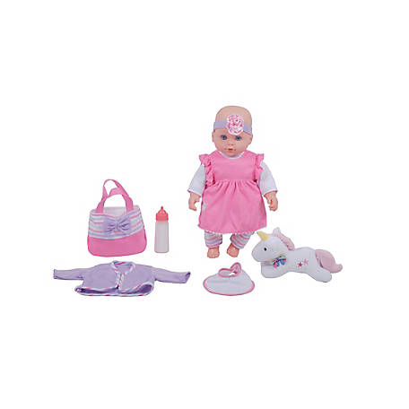 Dream Collection 16 in. Lovely Baby Doll with Unicorn, 17632