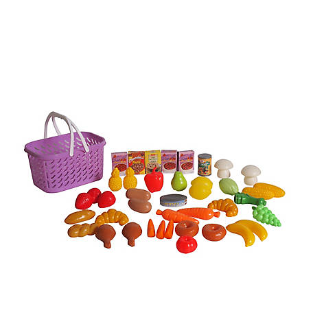 Dream Collection Pretend Play Food Basket - 40 pieces, 65104