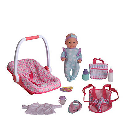 Dream Collection 16 in. Baby Doll with Carrier & Accessories, 18239