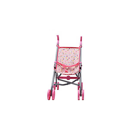 Dream Collection 23 in. Pretend Play Baby Doll Stroller - Pink, 65109