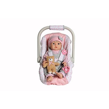 Dream Collection My Dream 17 in. Pretend Play Baby Doll with Carrier Carseat, 18607