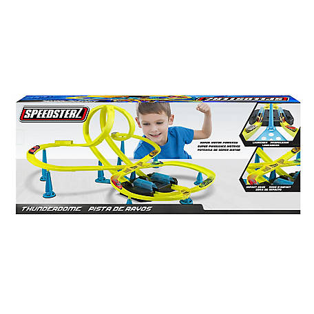 Speedsterz Thunderdome Stunt Race Track Play Set - Includes 10 Realistic Die Cast Cars, 1416444.USA