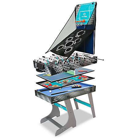HY-PRO 8-in-1 Folding Combo Game Table (Football, Table Tennis, Pool, Hockey, Archery, Darts, Basketball), HP05850