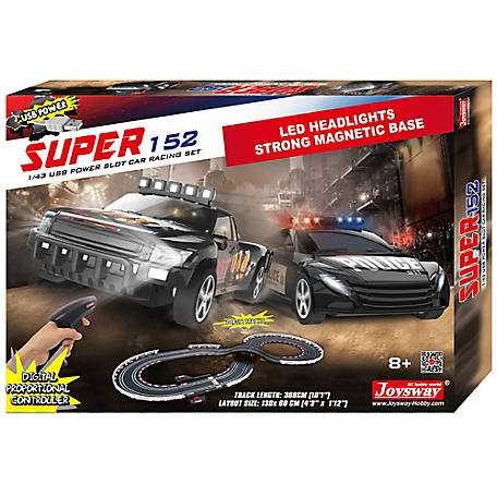 JOYSWAY JOYSWAY Super 152 1:43 Scale USB Power Slot Car Racing Set, 2152