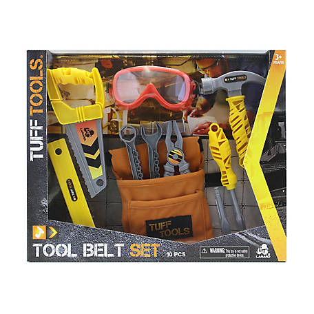 Tuff Tools Pretend Play Toy Tool Belt Set, 51039