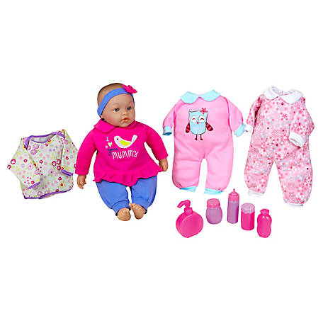 Lissi 15 in. Baby Doll Set with Extra Clothes & Accessories, 91522