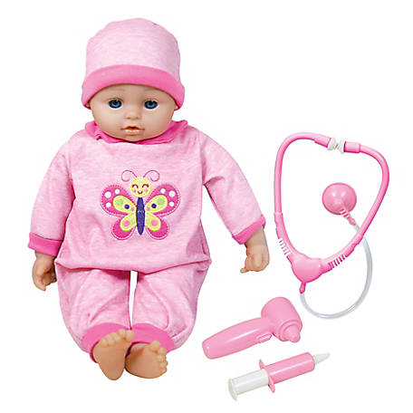 Lissi 16 in. Baby Doll Doctor & Medical Set with 6 Interactive Functions, 90515