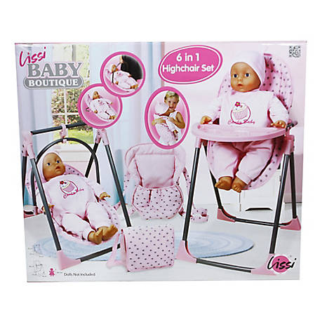 Lissi Baby Doll 6-in-1 Convertible Highchair Play Set, 61100