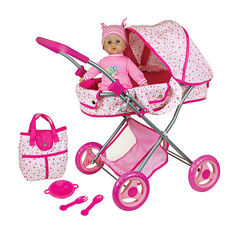 Lissi Doll Pram with 13 in. Baby Doll and Accessories, 613