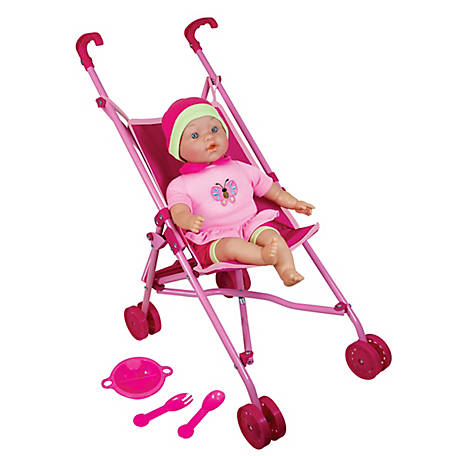 Lissi Doll Umbrella Stroller Set with 16 in. Baby Doll, 12516